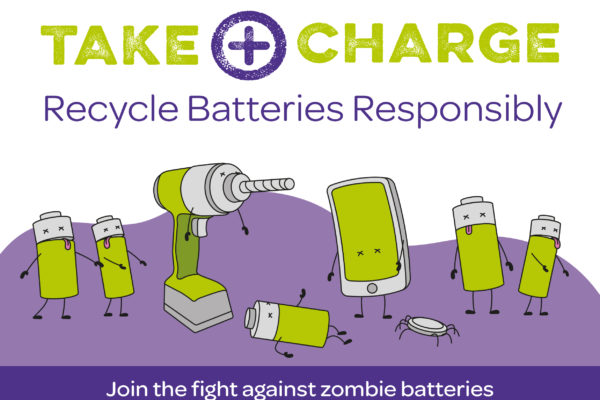 Take charge of batteries and hazardous waste