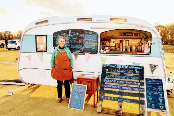 Recycling with 'Betty Brew' the mobile Caravan Cafe
