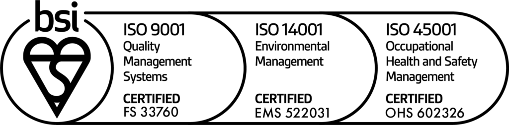 New BSI combined logo with 45001